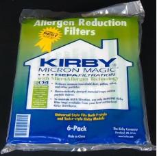 Kirby maišeliai HEPA, balti, universalus pajungimas (PAKUOTĖ 6 VNT. - PIGIAU)